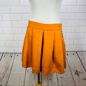 Miss Daisy Burnt Orange Scalloped Hem Shorts - L